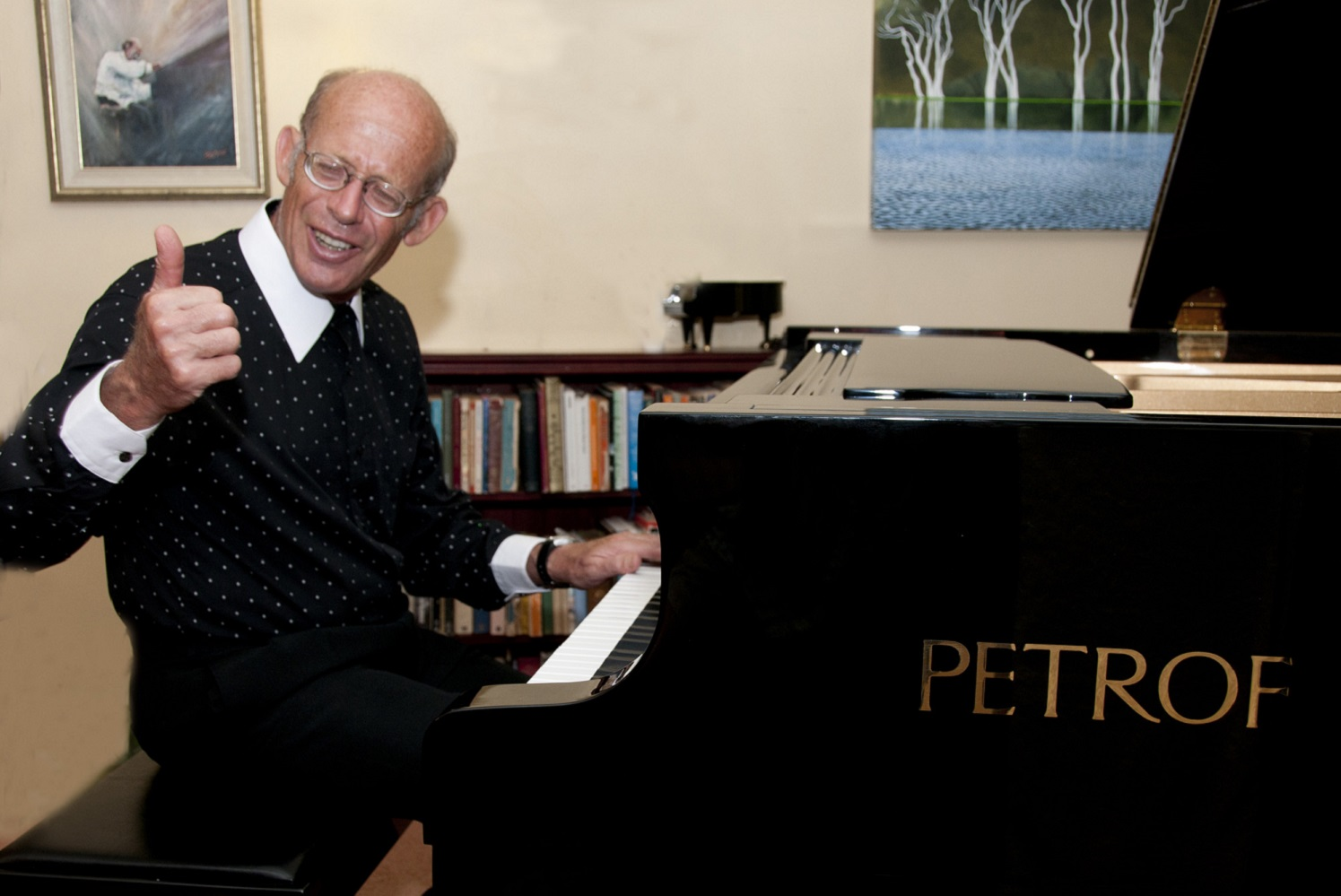 David Helfgott at piano